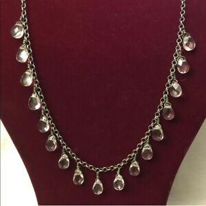 Silpada Sterling Silver Crystal Drop Necklace N1661 RARE