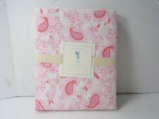 Pottery Barn Kids Lara Paisley Floral Flower Duvet Cover Full Queen Pink Wh #49