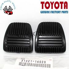 NEW GENUINE TOYOTA OEM BRAKE CLUTCH RUBBER FOOT PEDAL PAD COVER SET OF TWO