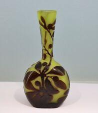Jugendstil originale Gallé Vase mit Mistel Dekor - 14277 -