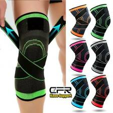 Copper Knee Sleeve Fit Compression Brace Support Sport Joint Pain Arthritis OBS