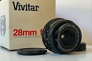 Vivitar PENTAX K 28mm f2.8 MC LENS Wide Angle Close Focus PK-A/R Ricoh in Box