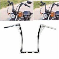 """16"""" barre Ape Hangers Bar 1 1/4"""" Rise Poignées Guidon Pour Harley Davidson Noir"""