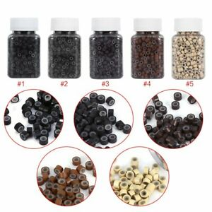 5mm Silicone Lined Micro Link Rings Micro Beads for Human Hair Extensions Tools