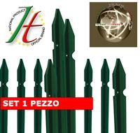 Paletto palo verde plastificato a T 35x35x3mm di per recinzione H 225cm
