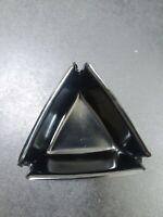 Vintage plastic triangle black ashtray Atomic/mid century mod/eames era.50-60s