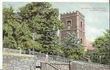 Wales Postcard - St Woollas's Church - Newport - Monmouthshire   A4857