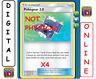 4x Pokegear 3.0 182/214 Unbroken Bonds Pokemon TCG Online Digital