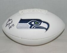 STEVE LARGENT AUTOGRAPHED SIGNED SEATTLE SEAHAWKS WHITE LOGO FOOTBALL JSA