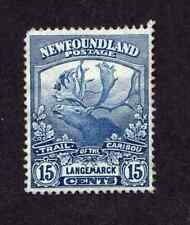 Newfoundland #124 15 Cent Dark Blue Trail of the Caribou Issue MH