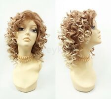 Pre-Trimmed Lace Front Strawberry Blonde Heat Resistant Wig Spiral Curls 13""