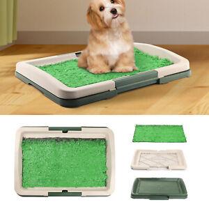 Pet Dog Toilet Mat Indoor Restroom Training Grass Potty Pad Loo Tray Large Pupp