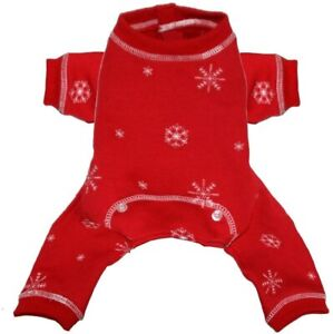 Hip Doggie Red Snowflake Longjohns, X-Small