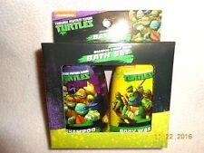 New Kids Teenage Mutant Ninja Turtles 2 Pc Bath Set Shampoo & Body Wash Christma