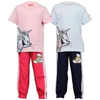 Puma boys girls set kids pyjama tom & jerry cartoon t shirt bottom top disney