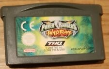Gameboy advance game, power rangers, wild force