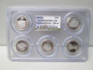 2011 S National Parks SILVER Quarter Proof Set PCGS PR69 DCAM