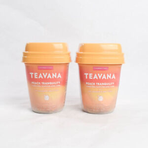 2 Starbucks Teavana Peach Tranquility Tea Caffeine Free Herbal Chamomile Citrus