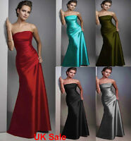 UK Stock Long Evening Formal Party Gown Ball Prom Bridesmaid Wedding DressSz6-18