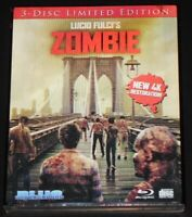 lucio fulci's ZOMBIE usa blu-ray NEW 4k restoration LIMITED 3-D SLIPCASE cover a