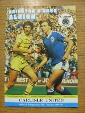 17/09/1983 Brighton And Hove Albion v Carlisle United  (No Apparent Faults)