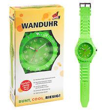 Large Green Oversized Hanging Quartz Wall Clock Wrist Watch Style Strap 92cm NEW