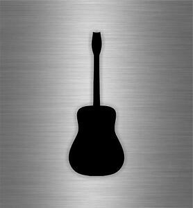 Autocollant sticker voiture moto guitare guitariste musique mur instrument noir