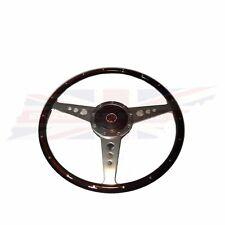 "New 15"" Laminated Riveted Wood Steering Wheel and Adaptor for MGA 1955-1962 53WF"