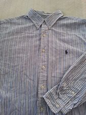 "Polo Ralph Lauren Men's Long Sleeve ""Classic Fit"" Striped Shirt Blue 17 35/35"