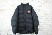 Nike Barcelona FC Black Puffer Jacket size L