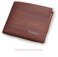 Baellerry 2019 Vintage Men Leather Brand Luxury Wallet Short Slim Brown
