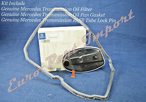 Mercedes-Benz Transmission Tranny Oil Filter + Gasket + Lock Clip Genuine OEM