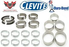 FORD 221 260 289 302 5.0 CLEVITE ROD MAIN BEARINGS WITH DURABOND CAM BEARINGS