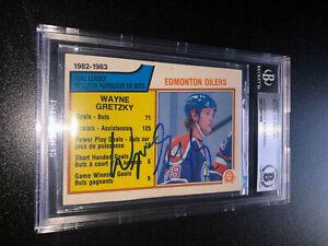 Wayne Gretzky Signed 1983-84 O-Pee-Chee OPC Card #22 Edmonton Oilers BAS Slabbed