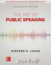 NEW 3 Days to US / CA The Art of Public Speaking 13E Stephen Lucas 13th Edition