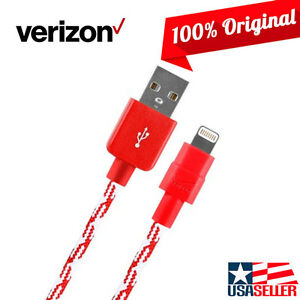 OEM Verizon Braided Lightning Charge Data Cable for iPhone 11 Pro XS Max X XR