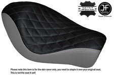 BLACK & GREY DIAMOND CUSTOM FOR HARLEY SPORTSTER LOW IRON 883 SOLO SEAT COVER