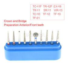 NEW 1 Kit Dental Diamond Burs Front Teeth Set 10pcs/Kit FG-101 Blue  AZDENT