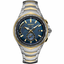 Seiko Men's Coutura Radio Sync Solar Watch in Two-Tone Silver & Gold #SSG020