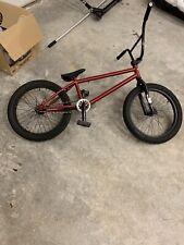 BMX red and black bike