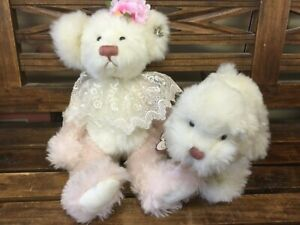 Beautiful  Annette Funicello White Bear and Puppy Dog