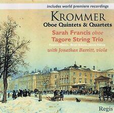Krommer Oboe Quintets & Quartets Sarah Francis Barritt Tagore Trio New Regis CD