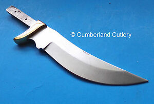 Knife Making Blade Blank with Brass Finger Guard