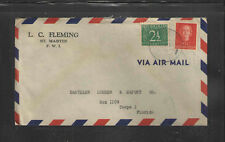 1951 L C FLEMING ST MARTIN F W I NETHERLANDS ANTILLIES ADVERTISING COVER