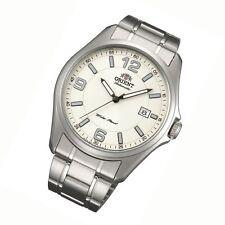 Orient Uhr Sporty Automatic silver Datum klassiche Herrenarmbanduhr FER2D007B0