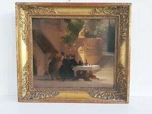 """Carl Friedrich Mayer (1824-1903) """"Weinprobe im Tucherschloss Nürnberg"""" Öl/Lw."""