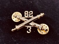 🌟US Army 82nd 3/82 Field Artillery Crossed Cannon Hat Lapel Tie Pin, 1-1/2""