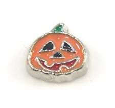 Floating Charms Mini Charm Living Memory Locket Silver Halloween Pumpkin 7mm