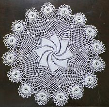 Irish Crochet Doily Hand Made Raised Flowers A Vintage Beauty Nice Condition
