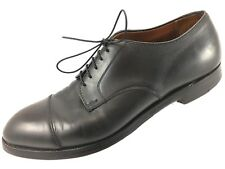 SH16 Brooks Brothers 9.5D USA Made Black Leather Cap Toe Oxford Derby Shoe